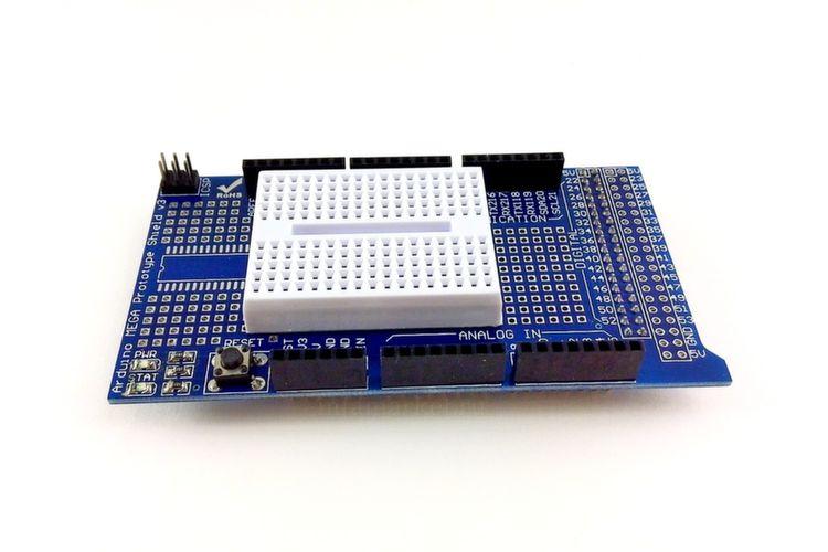Расширение Arduino Mega Protoshield (вид сверху)