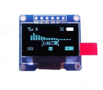 Дисплей 0,96' OLED 12864 SPI 3-5V синий