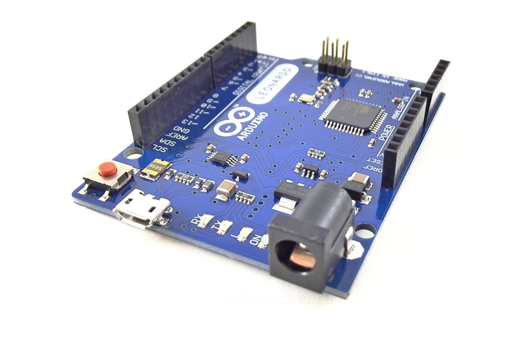 Arduino LEONARDO (вид сверху сбоку)