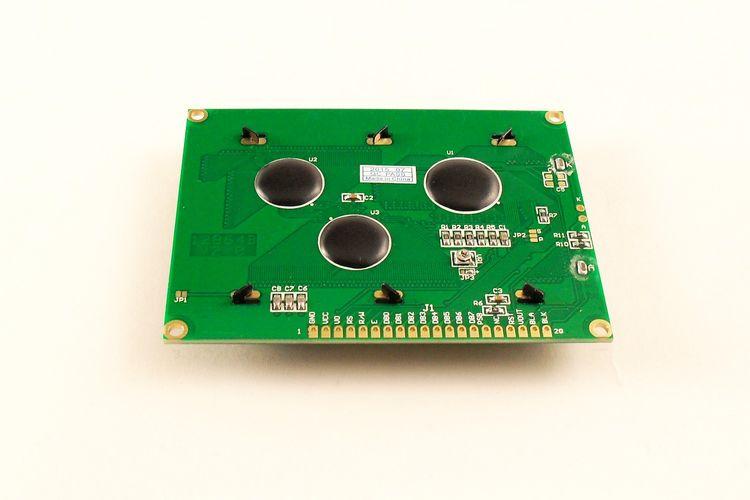 Дисплей LCD 12864 5V SPI синий (вид сзади)