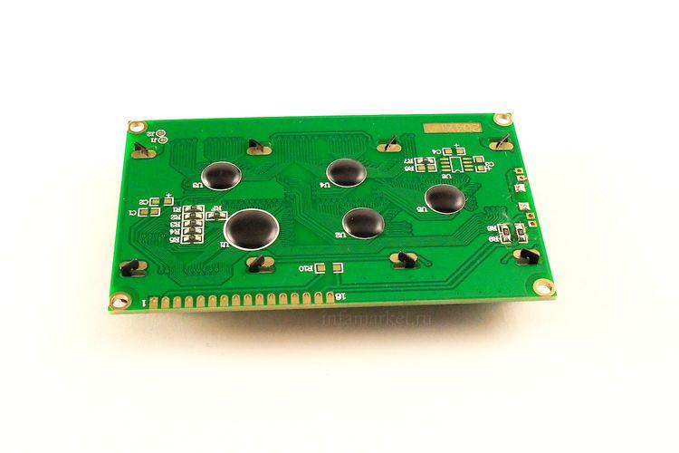 Дисплей LCD 2004 зеленый (вид сзади)