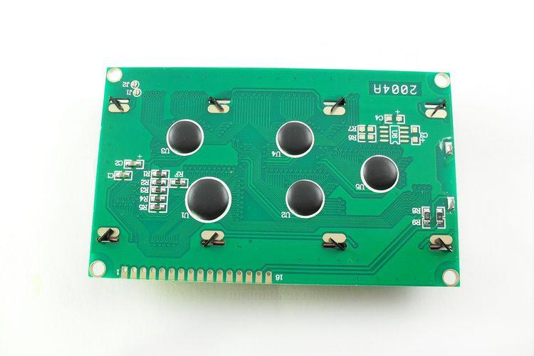 Дисплей LCD 2004 синий (вид сзади)