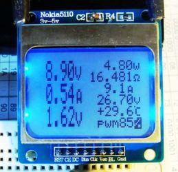 Дисплей Nokia 5110 синий (вид сверху,спереди)