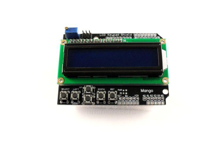 Расширение LCD Keypad Shield (вид спереди,сверху)