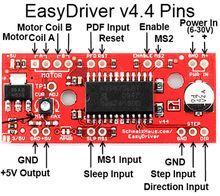 Драйвер шагового двигателя EasyDriver A3967 V4.4