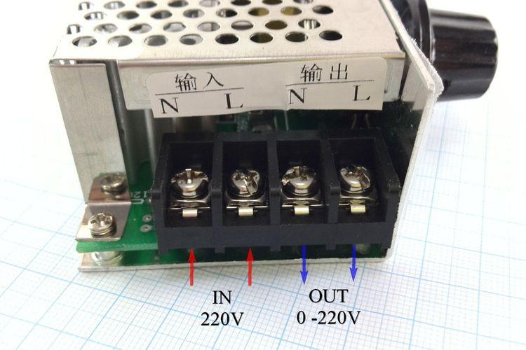 Регулятор напряжения AC 0-220V 4000W