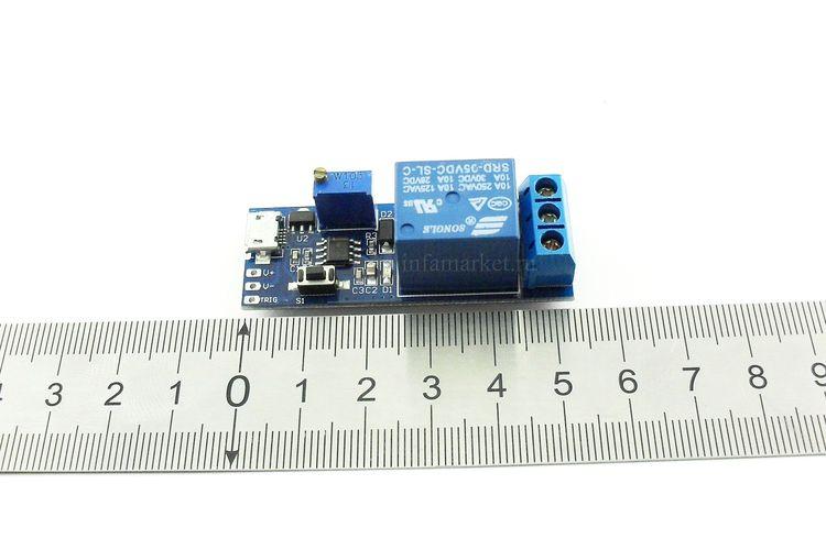 Модуль реле задержки выключения XD230 5V-30V 0-24с 2500W (в длину)