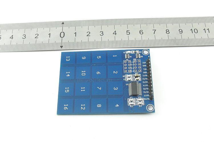 Модуль клавиатуры сенсорной 16-клавишной XD-62B на TTP229 (в длину)