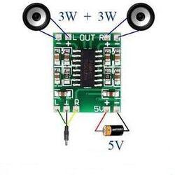 Модуль усилителя звука PAM8403 v1 2*3W