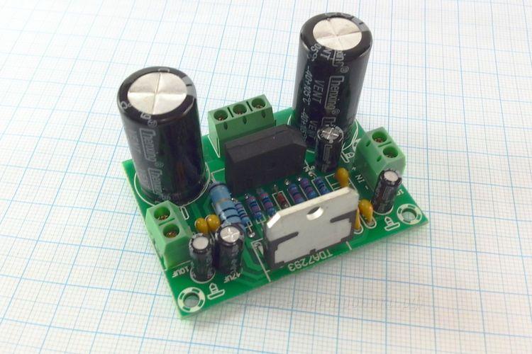 Модуль усилителя звука TDA7293 1х100W AC12-32V (вид сверху)