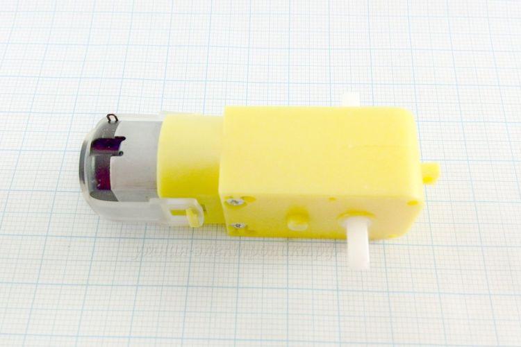 Мотор-редуктор DC 3-6V 90-200 RPM 48:1 пластмассовый прямой