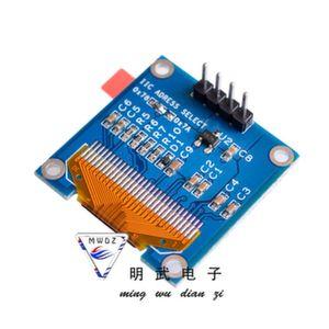 Дисплей 0,96' OLED 12864 I2C 2,2-5,5V GND VCC синий (вид сзади)