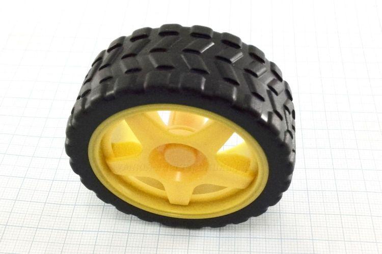 Колесо 65 мм желтое