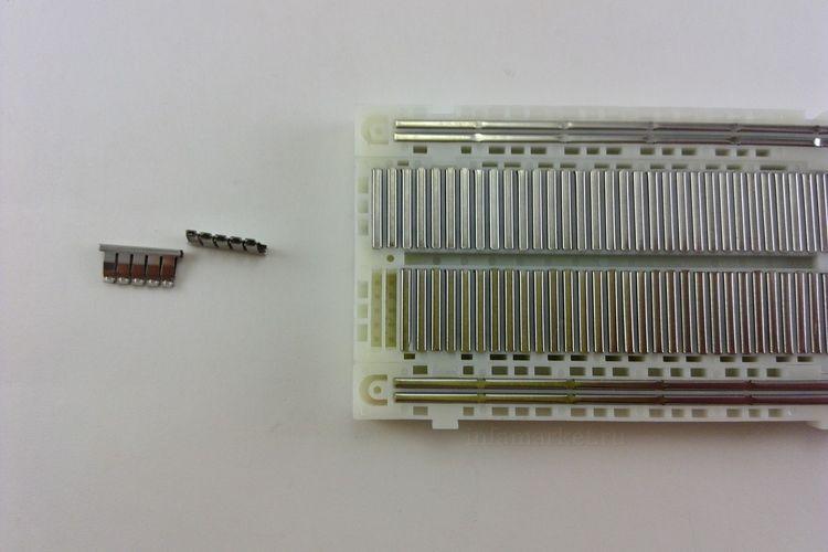 Макетная плата контактная Breadboard MB-102 (в разрезе)