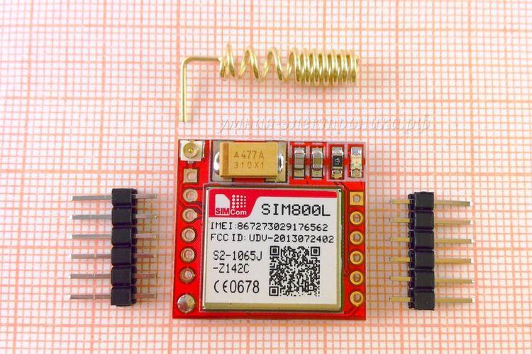 Модуль GSM GPRS SIM800L MicroSIM с антенной