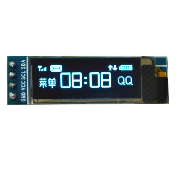 Дисплей 0,91' OLED SSD1306 128x32 I2C 3,3-5,5V синий (в работе)