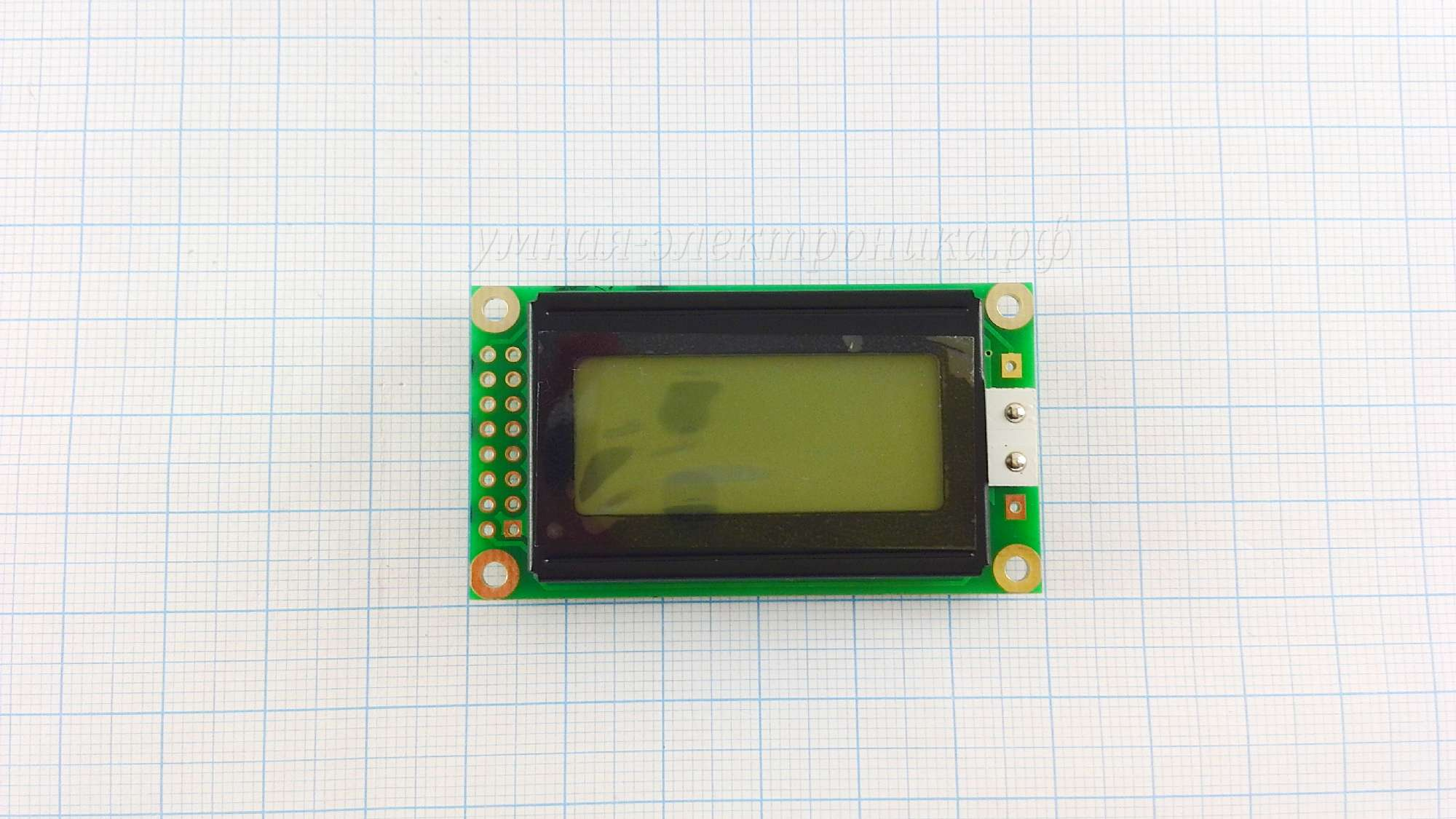 Дисплей LCD 0802A 5V зеленый