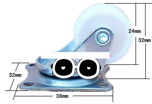 Колесо поворотное Omni wheel SW02 H32 D24 10KG всенаправленное