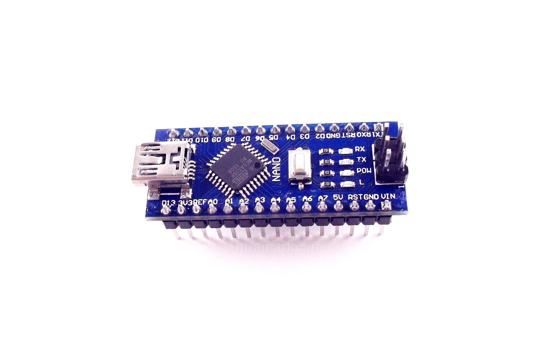 Arduino Nano V3 328 16M 5V CH340G (вид сверху)