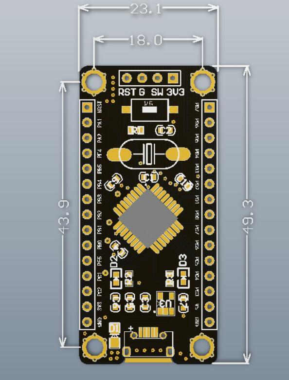 Контроллер STM8 STM8S105K4T6 3-5.5V 16MHz 32kB Flash 2kB ROM