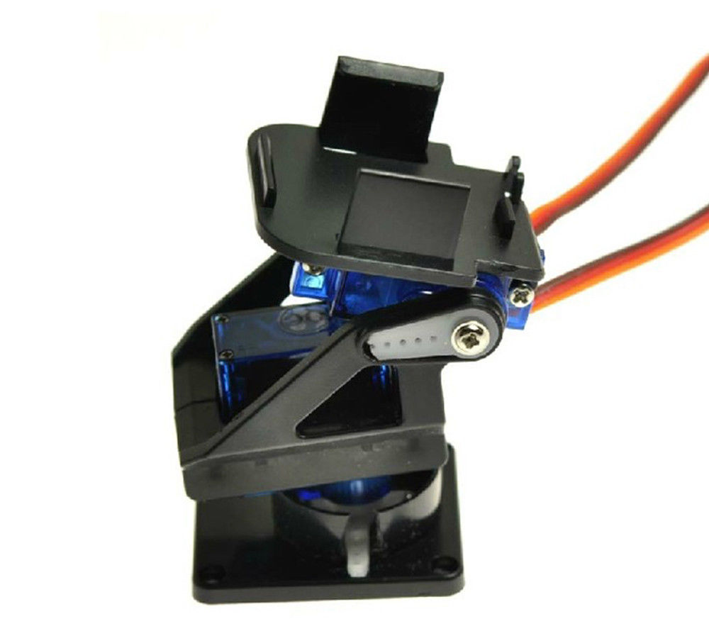 Кронштейн для камеры FPV Servo с поворотным механизмом в сборе вид сбоку