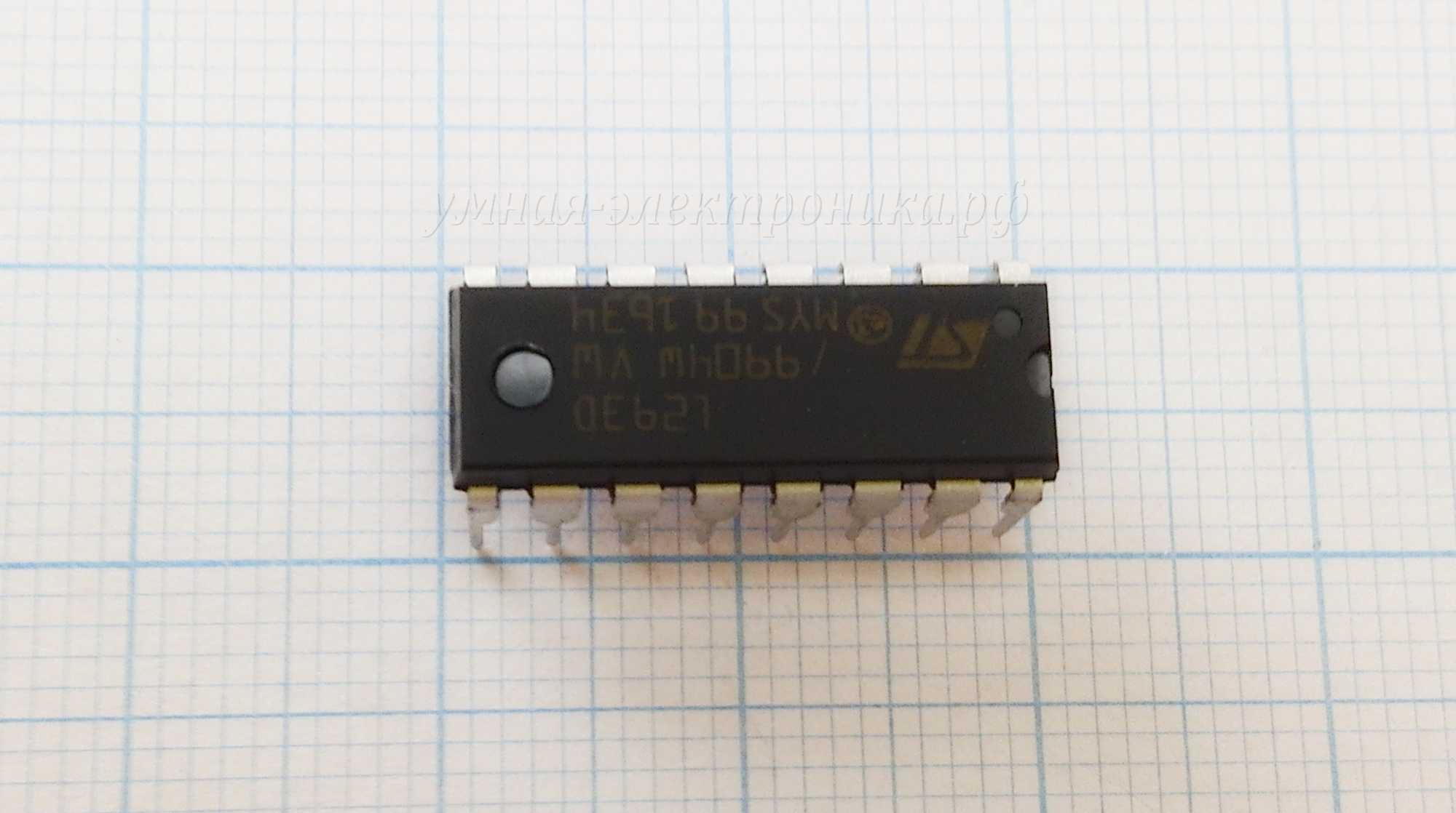Микросхема L293D драйвер двигателей на 4 канала DIP-16