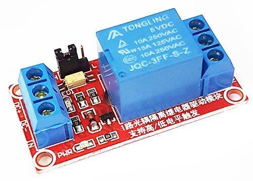 Модуль реле 5V с оптопарой и логикой 3,3V 5V HL LL (вид сверху)