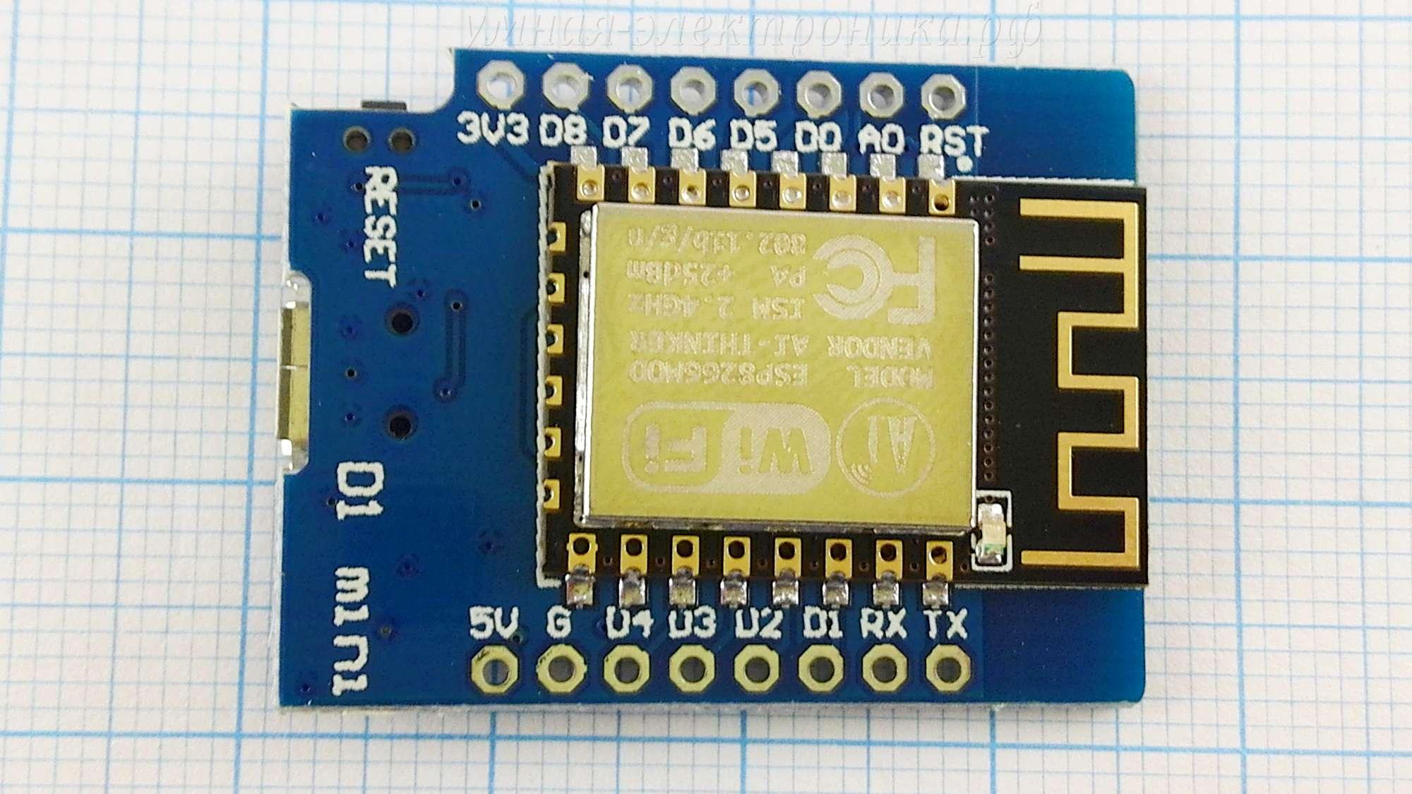 Модуль WiFi Wemos D1 mini NodeMcu ESP-12F CH340G 5V