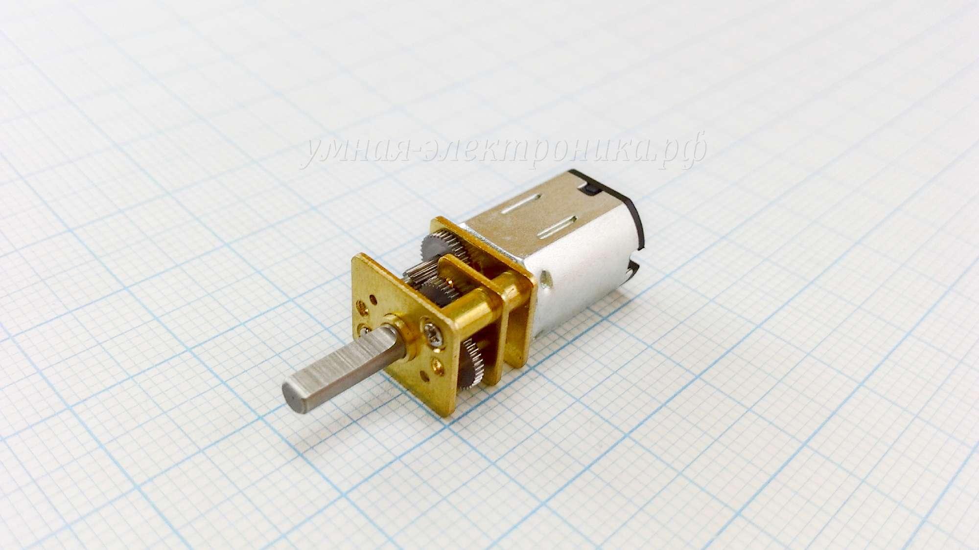 Мотор-редуктор GA12-N20 3-12V 250-1000 RPM 0.56-2.4 kg/cm 11.4Ω 1:30