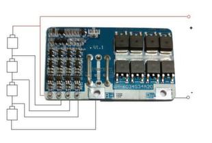 Плата защиты и заряда на 4 канала 3.7V WH-6034S4A20 CC-CV 14,8V 20-50A