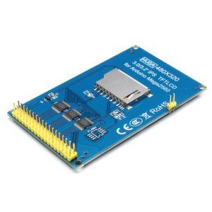 Дисплей TFT 3.2 дюйма 320х480 HX8357B для Arduino Mega (вид сверху)