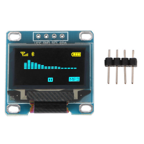 Дисплей 0,96' OLED 12864 I2C 2,2-5,5V VCC GND желтый-синий