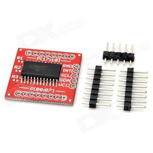PCF8575, модуль расширителя портов ввода-вывода IO I2C до 16IO