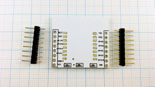 Плата переходник для ESP8266 модулей типа ESP-07, ESP-12, ESP-12E (вид сзади)
