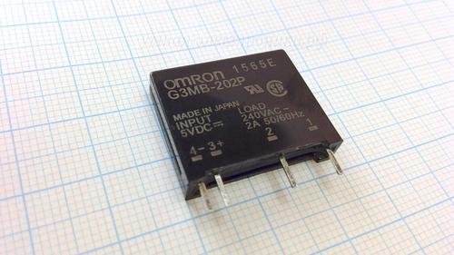 Реле твердотельное OMRON G3MB-202P-5VDC 2A240VAC