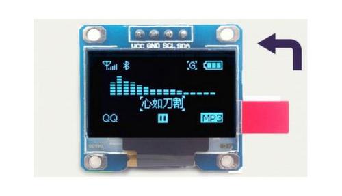 Дисплей 0,96' OLED 12864 I2C 2,2-5,5V VCC GND синий