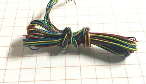 Провод 0,3 мм с сечением 0.07 мм и длиной 10 м (5 цветов по 2 м)