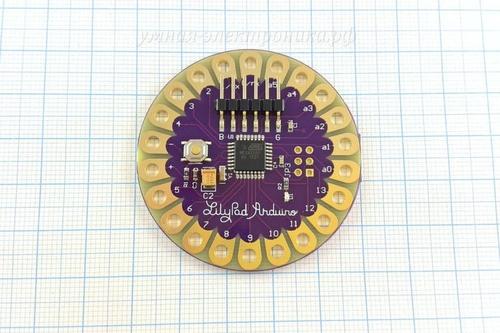 Lilypad 328 Main Board ATmega328P 16M (вид сверху)