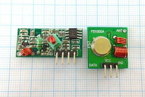 Модули беспроводные MX-FS-03V + MX-05V 315MHz.