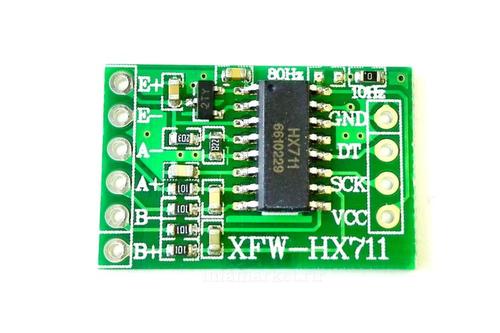 Модуль весов XFW-HX711 (вид спереди сверху)