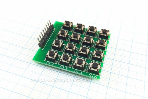 Модуль клавиатуры кнопочной 16-клавишной