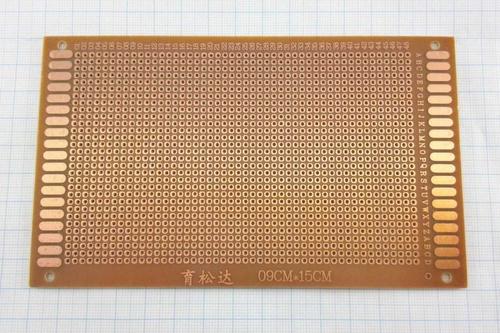 Макетная плата печатная 9х15см односторонняя
