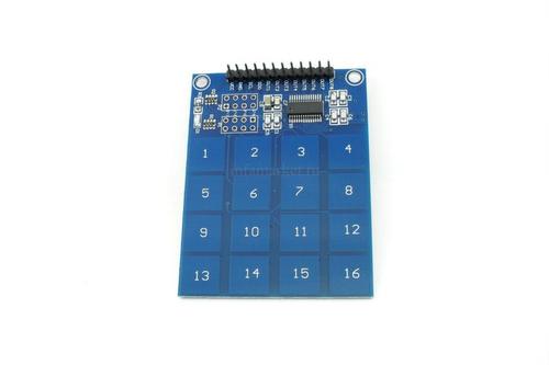 Модуль клавиатуры сенсорной 16-клавишной XD-62B на TTP229 (вид сверху)