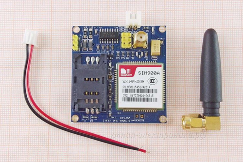 Модуль GSM GPRS SIM900A mini V3.8.2 с антенной (перепрошит на SIM900)