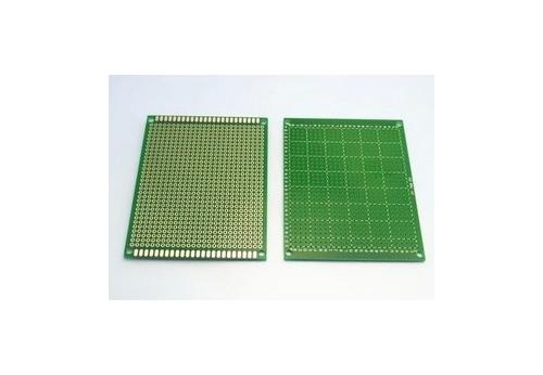 Макетная плата печатная 10 х 15 см 1.5мм шаг 2.54 PCB односторонняя зеленая