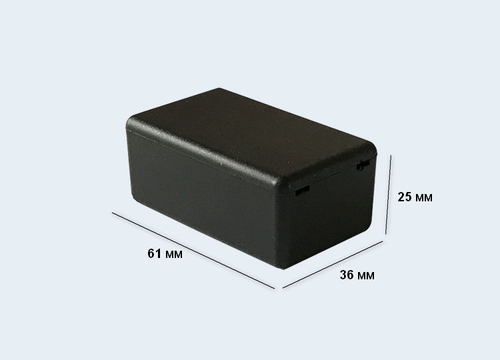 К16, корпус для РЭА  61*36*25 мм пластик.