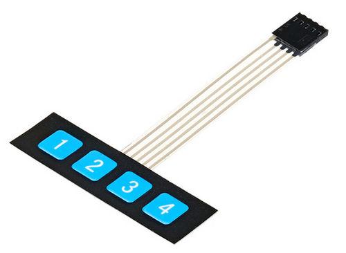 Клавиатура мембранная 1 х 4
