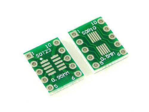 Плата SOP10 и SOT23, Двухсторонняя печатная плата с разводкой на DIP-10
