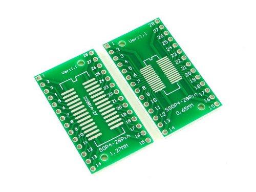 Плата SOP28 и SSOP28, Двухсторонняя печатная плата с разводкой на DIP28