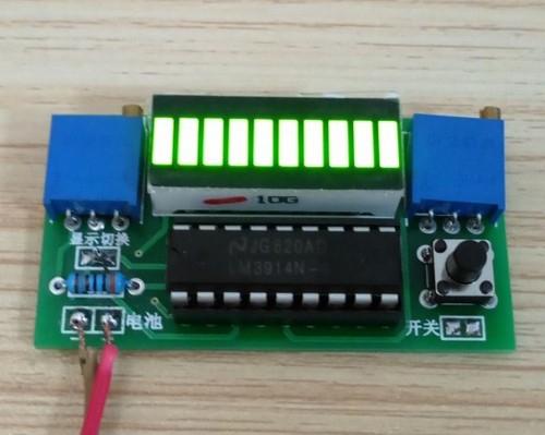 Индикатор уровня заряда 2.4-20V 10LED на LM3914 зеленый
